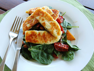 Salad days… with haloumi