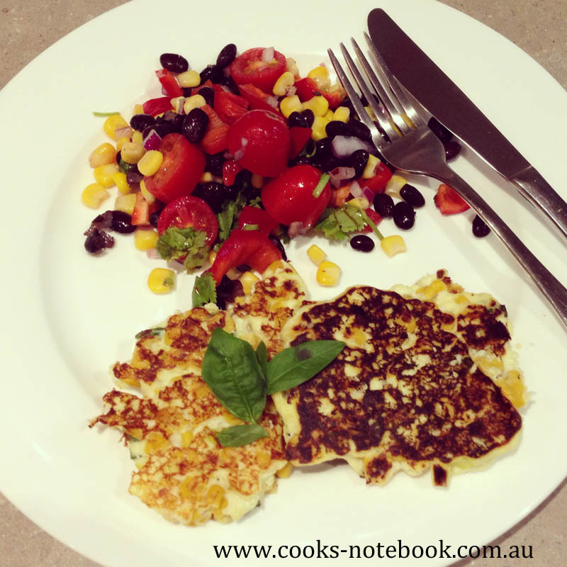 Meatless Monday – corn, leek and ricotta fritters