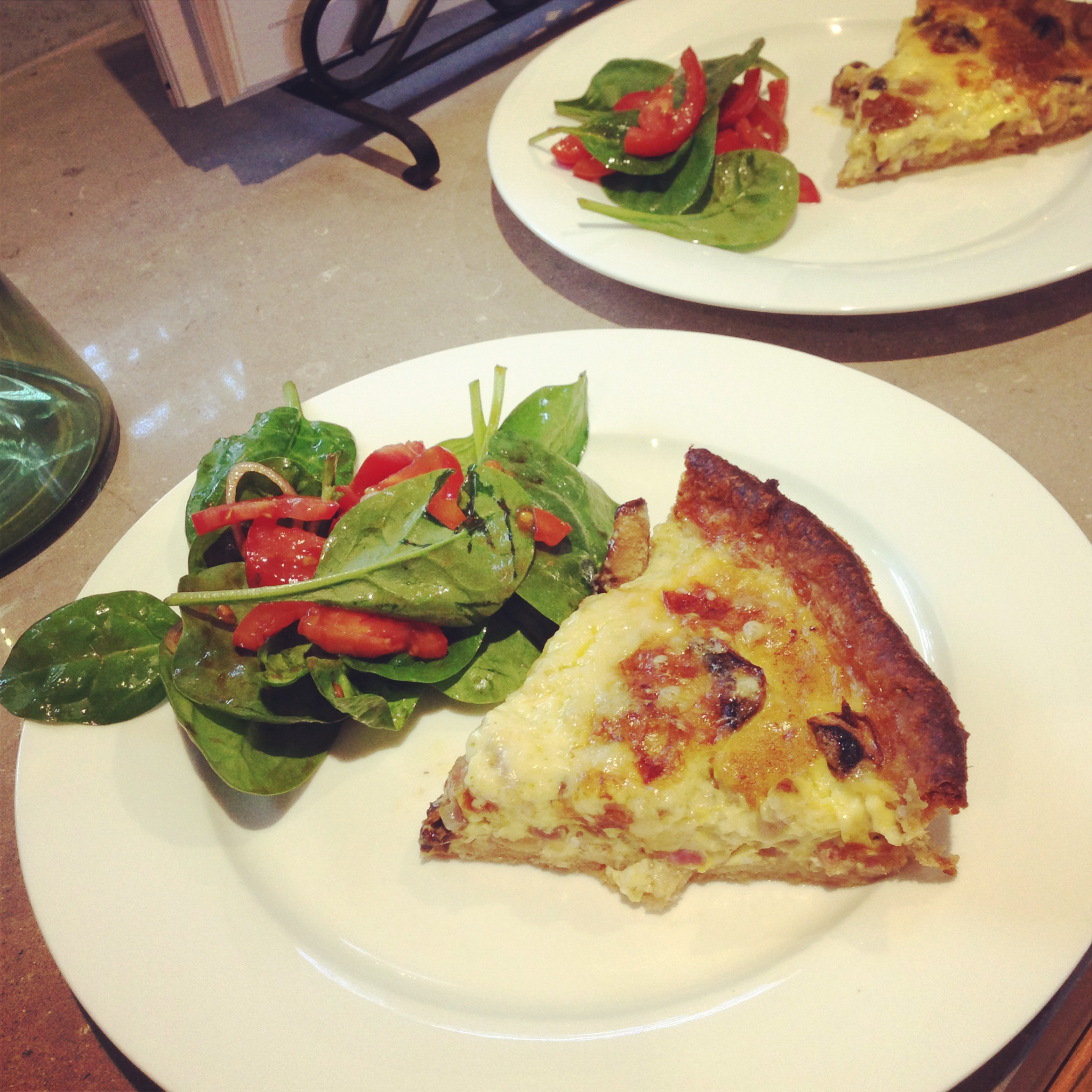 Weekend baking – quiche Lorraine