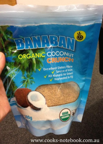Of course a food event isn't a food event with a sample or two - and sitting next to Stacey meant I got to check out a few of her coconut products including this amazing coconut crunch. Mmmm