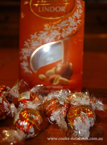 How amazing are these??? Peanut butter Lindor balls - my new addiction