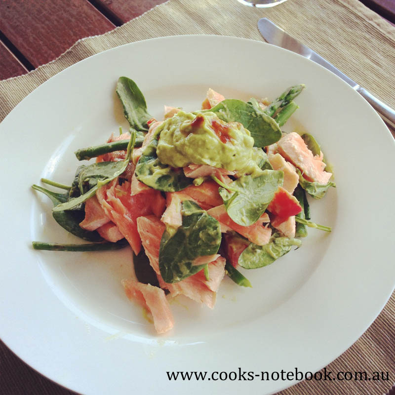 Salad days – salmon salad with avocado cream recipe
