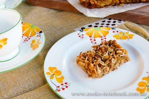 Apple and coconut slice