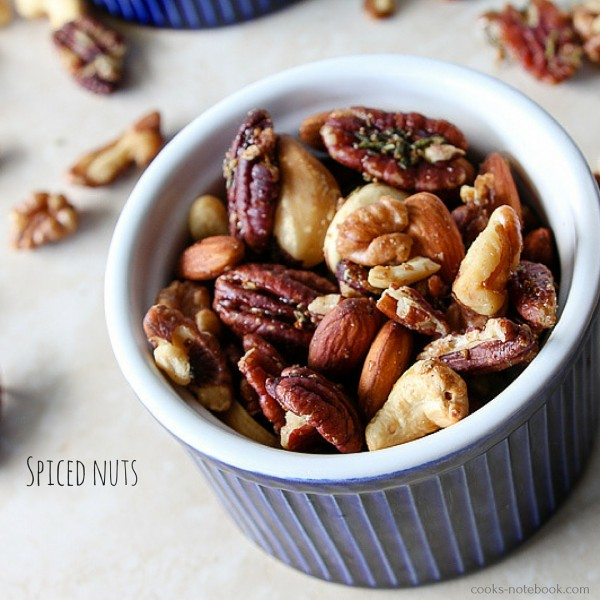 spiced nuts - www.cooks-notebook.com